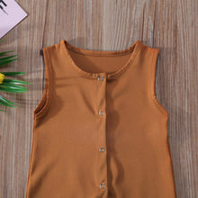 BENTLEY Buttons Front Sleeveless Jumpsuit Romper Cinnamon (0-24M) -  Romper - The Tot Drawer
