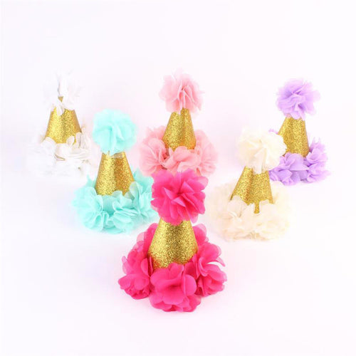 Gold Tiara Flower Headwear (5 colors option) -  Accessories - The Tot Drawer