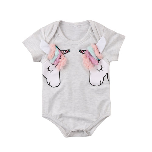 Unicorn Manes Short Sleeves Bodysuit (0-24M)