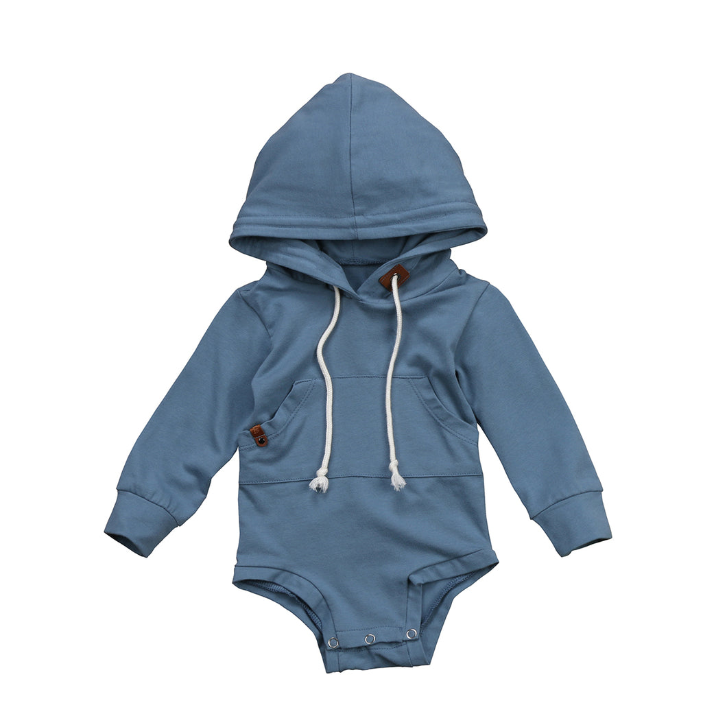 BALI Hooded Romper Jumpsuit Stone Blue (0-24M) -  Romper - The Tot Drawer