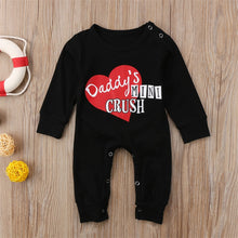"""Daddy's Mini Crush"" Long Sleeve Romper (0-24M) -  Romper - The Tot Drawer"