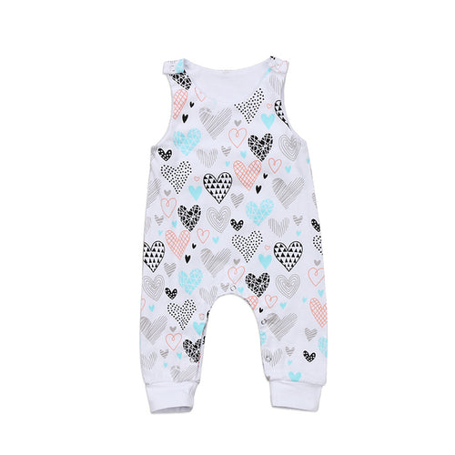 VANESSA Heart Sleeveless Romper (0-24M) -  Romper - The Tot Drawer
