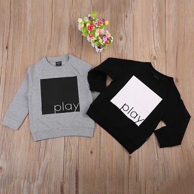 """Play"" Long Sleeve Sweatshirt Gray (2-7T) -  Outerwear - The Tot Drawer"