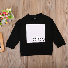 """Play"" Long Sleeve Sweatshirt Black (2-7T) -  Outerwear - The Tot Drawer"