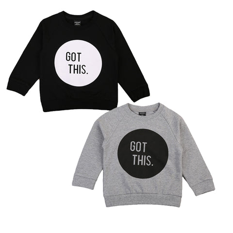 """Got This"" Long Sleeve Sweatshirt Gray (2-7T) -  Outerwear - The Tot Drawer"