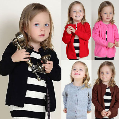 CANDY Colored Cardigan (1-7T, 7 colors option) -  Outerwear - The Tot Drawer