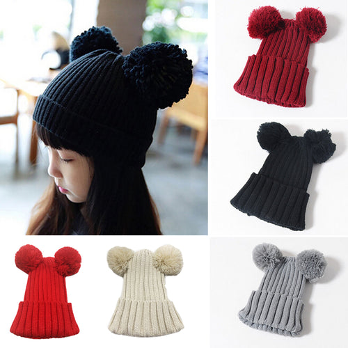 MINNIE Winter Pompom Beanie Hat (6 colors option) -  Accessories - The Tot Drawer