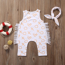 VALEN Tassel Sleeveless Romper and Bow Headband 2pcs Set  (0-24M) -  Romper - The Tot Drawer