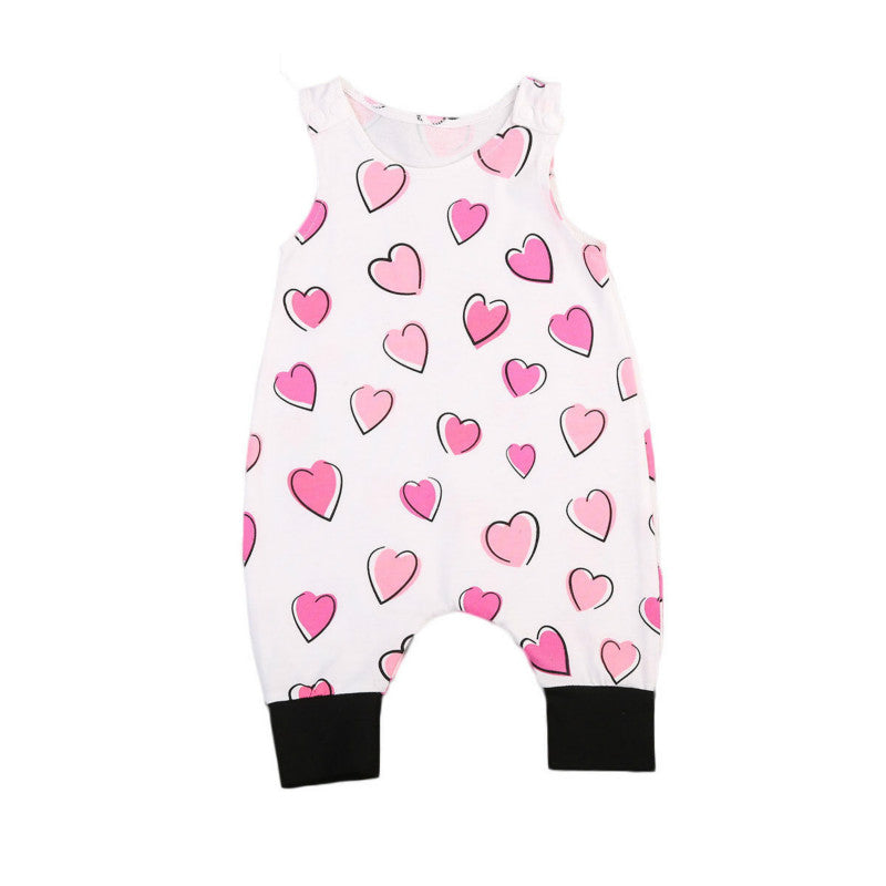 VICTORIA Heart Sleeveless Romper Jumpsuit (0-24M) -  Romper - The Tot Drawer