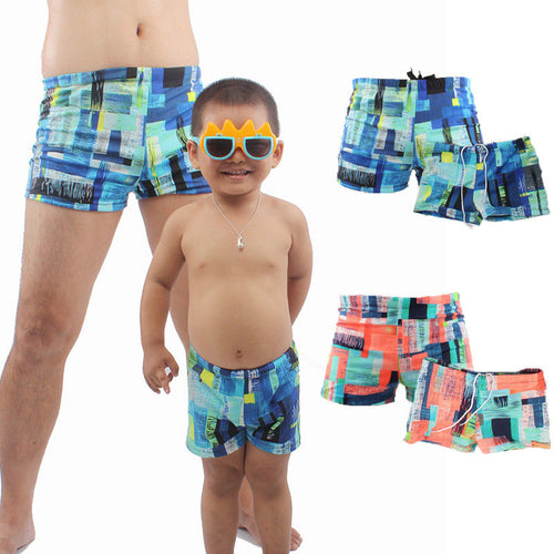 JOHNNIE Dad and Boy Printed Swimwear Shorts (1pc) -  Swimwear - The Tot Drawer