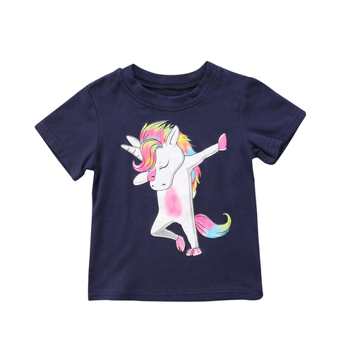 Unicorn Short Sleeve Top (1-6T) -  top - The Tot Drawer