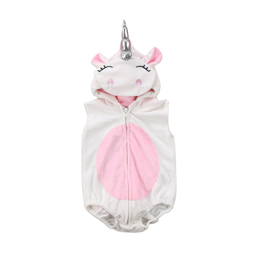 Unicorn Sleeveless Fleece Hooded Jumper (0-24M)