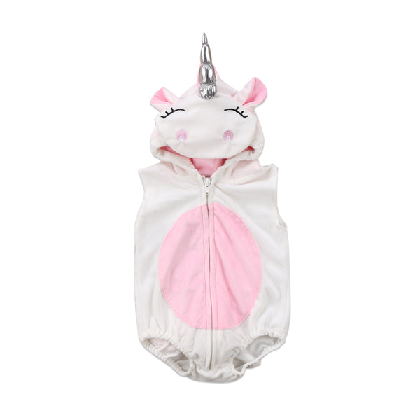 Unicorn Sleeveless Fleece Hooded Jumper (0-24M) -  Outerwear - The Tot Drawer