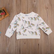 Unicorn Sweatshirt Pullover (1-7Y) -  top - The Tot Drawer