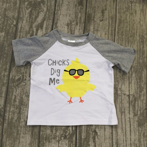"""Chicks Dig Me"" Short Sleeve T-Shirt (1-6T)"