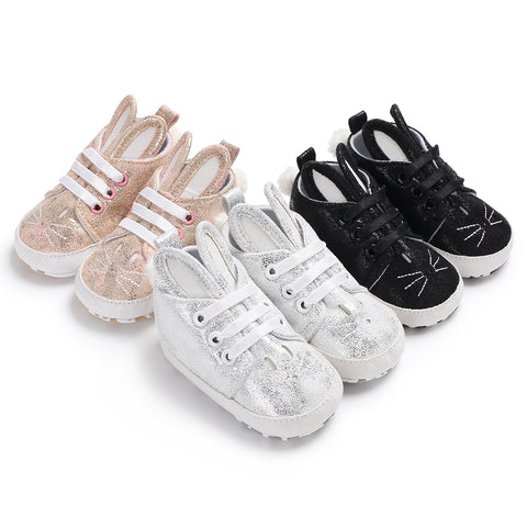 RORY Rabbit Ear Soft Baby Sneaker Shoes (0-18M, 3 color options)