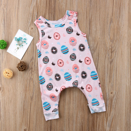 ELLEN Easter Eggs Sleeveless Romper (0-24M)