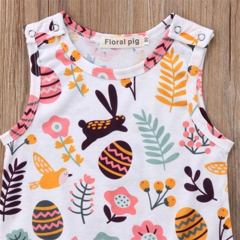 ENGEL Easter Bunny Sleeveless Romper (0-24M) -  Romper - The Tot Drawer