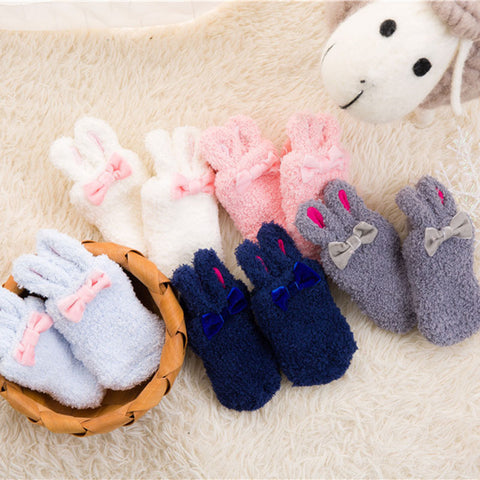 Rabbit Ears Anti-Slip Socks (0-4T) - 5 color options -  Accessories - The Tot Drawer