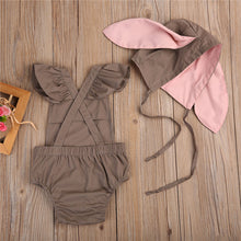 RAINE Romper and 3D Rabbit Ears Hat Set Beige (0-24M) -  Sets - The Tot Drawer
