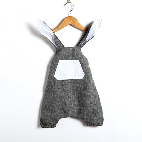 REESE Rabbit Gray Romper (1-4T)