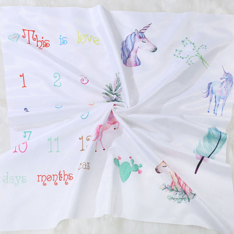 Unicorns Baby Blanket