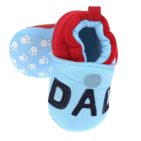 """I Love Mom"" & ""I Love Dad"" Soft Sole Shoes -  Shoes - The Tot Drawer"
