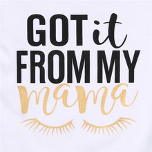 """Got it from My Mama"" T-shirt, Shorts and Headband 3PCS Set (2-6T) -  Sets - The Tot Drawer"