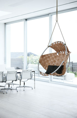 Hanging Chair In Leather
