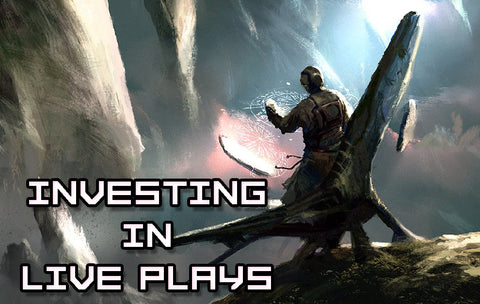 """A title card labeled """"Investing in Live Plays"""""""