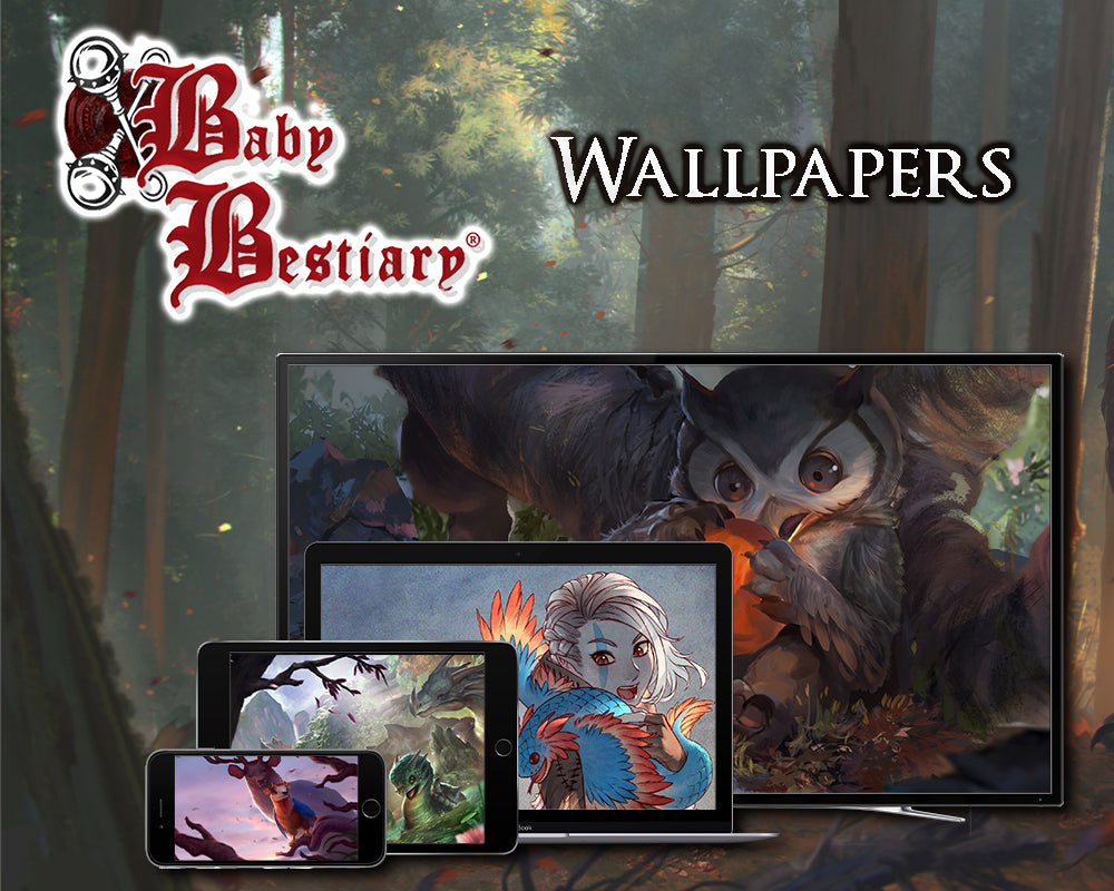 Baby Bestiary: Wallpapers