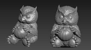 15mm Owlbear Miniature - 3d print