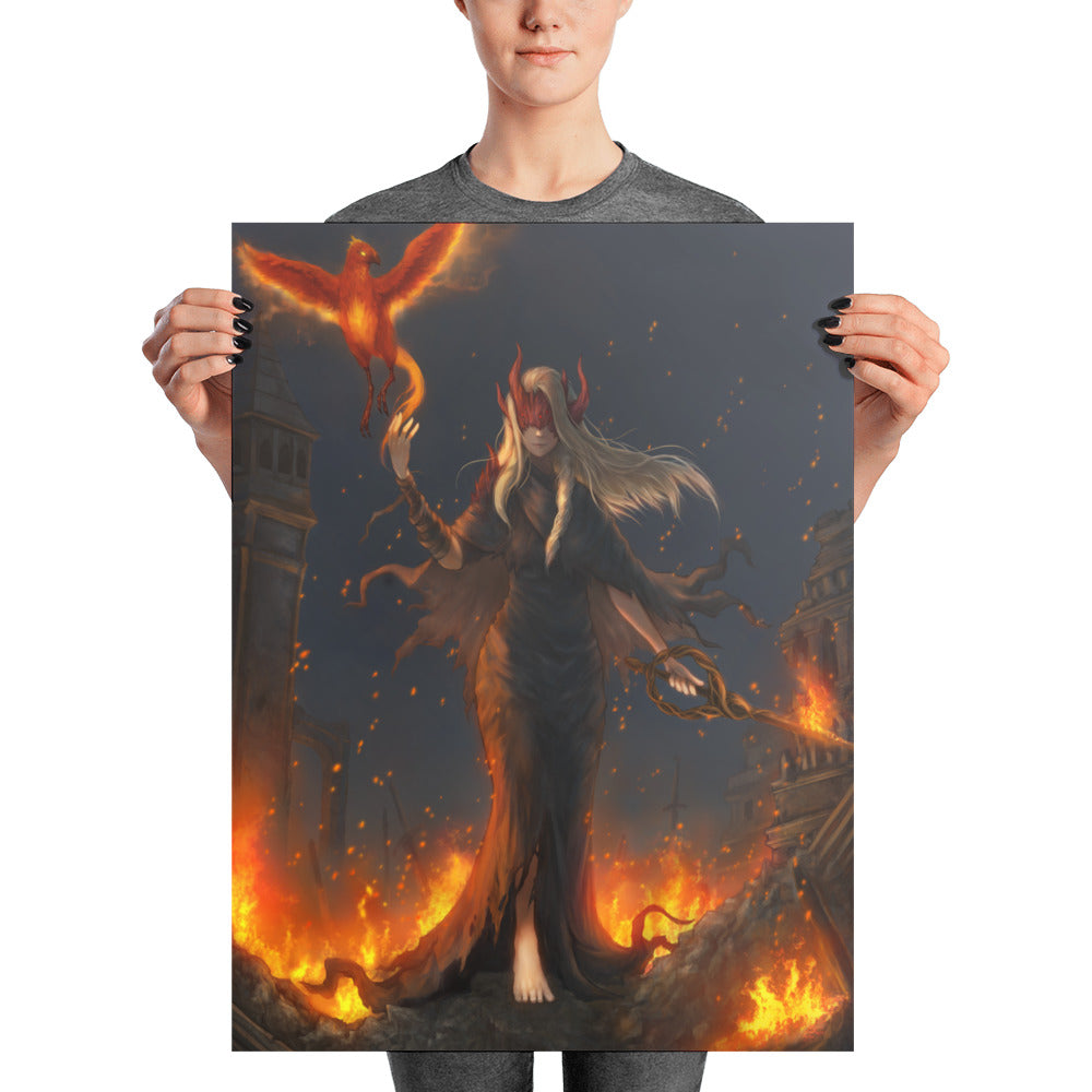 Daughter of Ash - Embers print