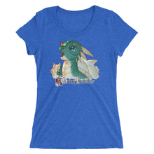 Load image into Gallery viewer, True Royal Triblend Nakano's Dragon Women's T-Shirt