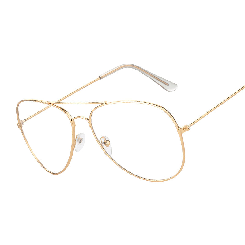 Alloy Gold Frame Clear Lens Glasses for Fashion Sunglasses Online ...