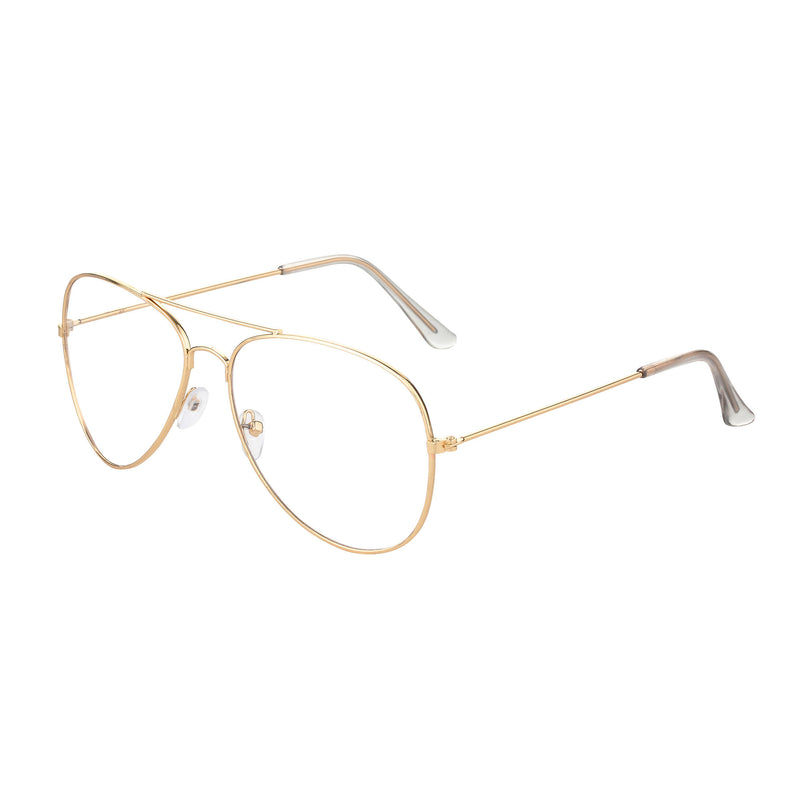 SPA-01 Aviator Clear Lens Glasses Gold Clear - SIPU EYEWEAR
