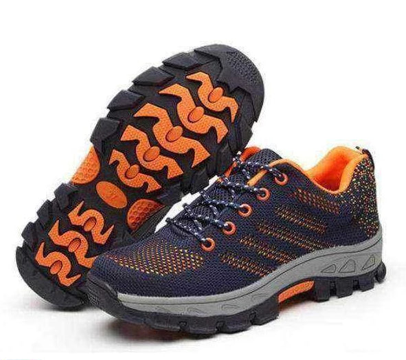 Men's Shoes Summer Mens Working Safety Shoes Breathable Footwear Lightweight Indestructible Shoes Steel Toe Shoe For Men Woman Sneakers Men's Boots