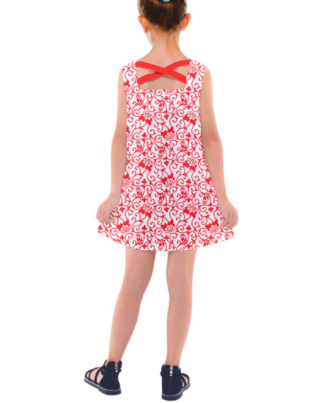 Red Flowers Dress