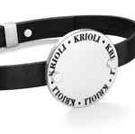 Load image into Gallery viewer, Signature Black Leather Bracelet