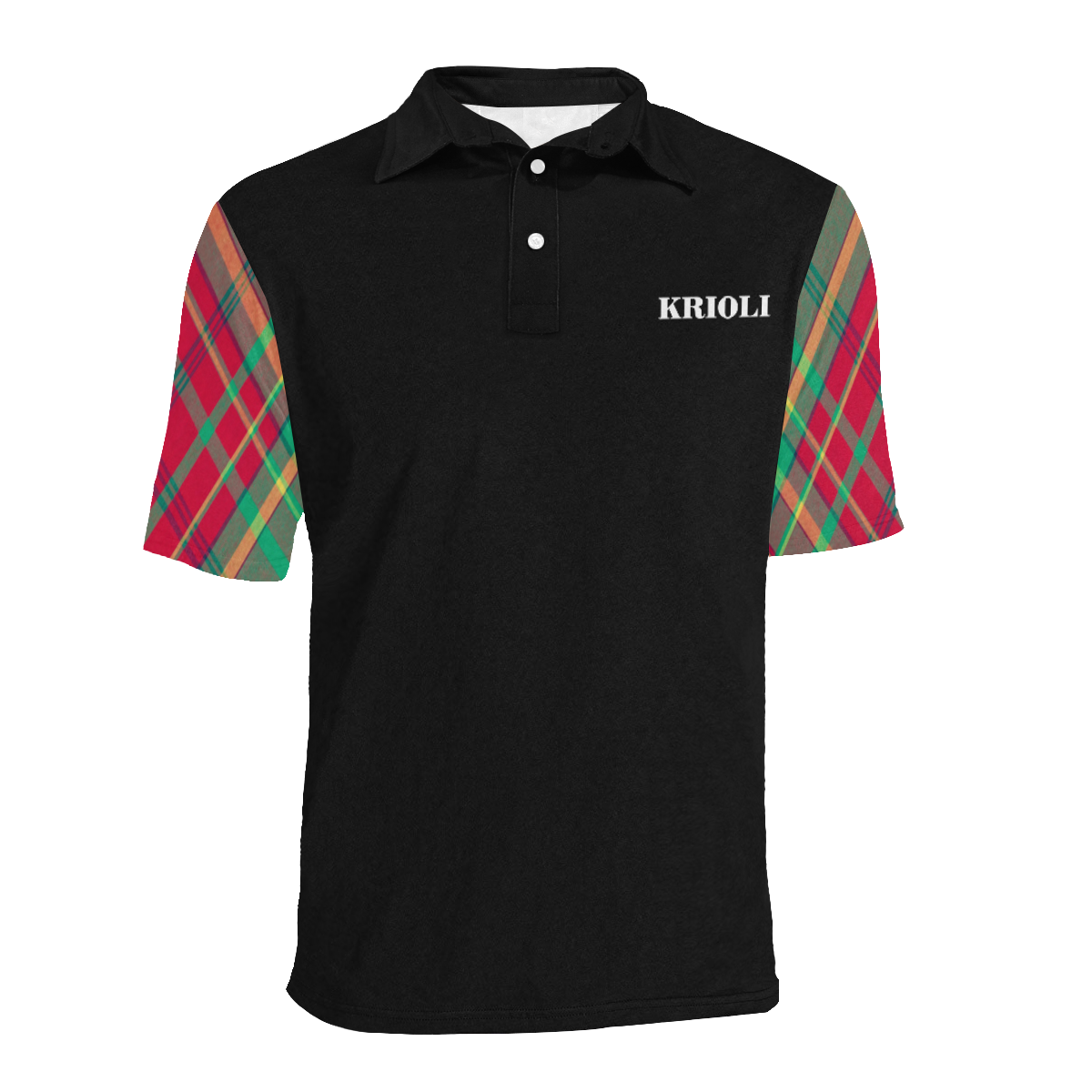 MADINI Madras Polo Shirt