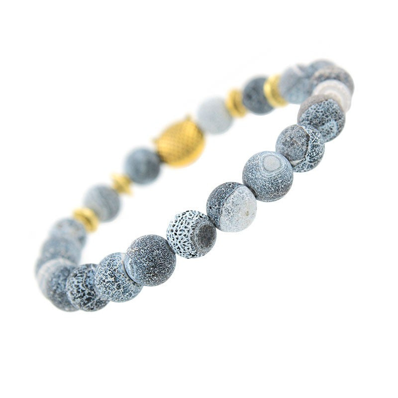 products beads natural bracelets bead bracelet skull stone labradorite royal