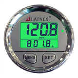 Chrome Digital GPS Speedometer with 3 Backlight Colors & Resettable Odometer (Silver)