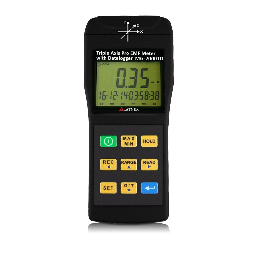 MG-2000TD: Triple Axis Pro EMF Meter with Datalogger