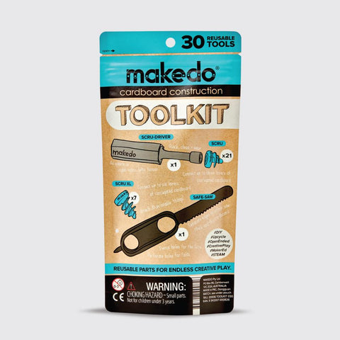 Toolkit - Starter kit of cardboard construction tools to introduce Makedo