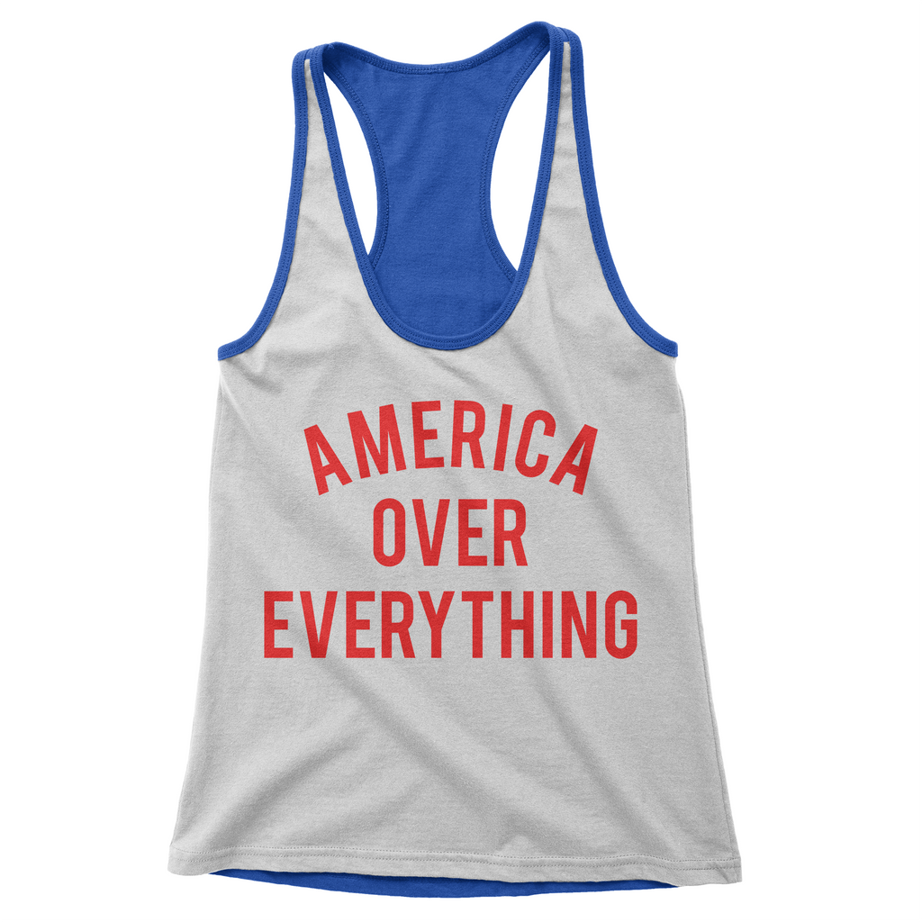 America over Everything Racerback
