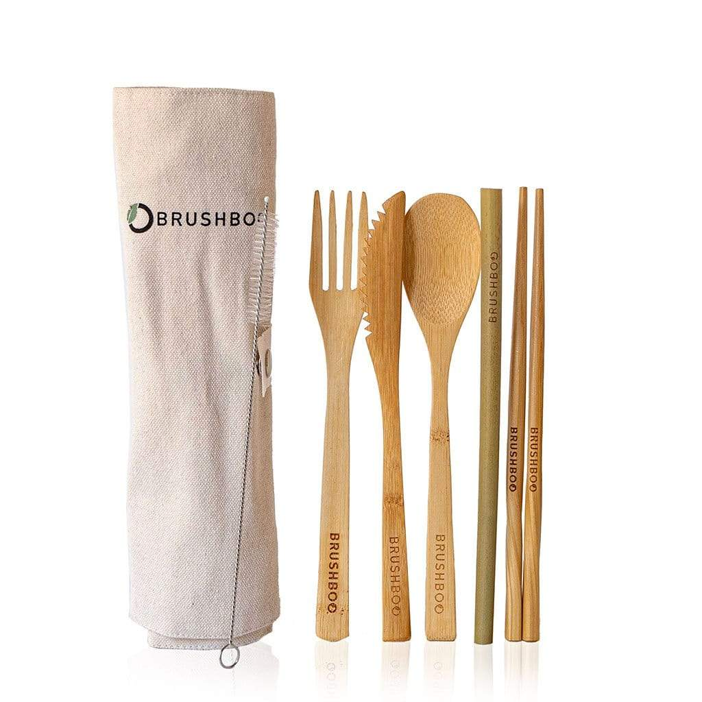 Brushboo bamboo cutlery set