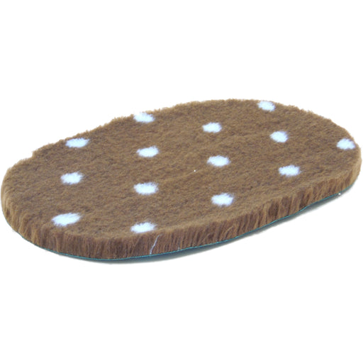 Oval Vetbed Original Brown With Blue Polka Dot