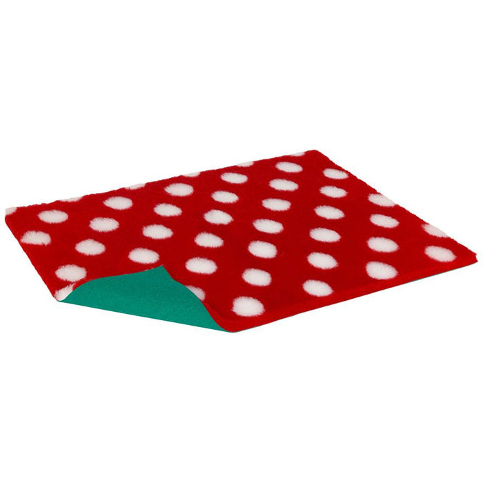 Oval Vetbed Original Red With White Polka Dot