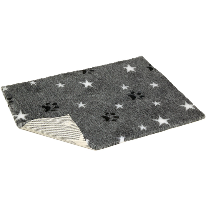 Vetbed Non-Slip Grey With White Stars And Black Paws