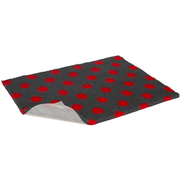 Vetbed Non-Slip Charcoal With Red Polka Dot